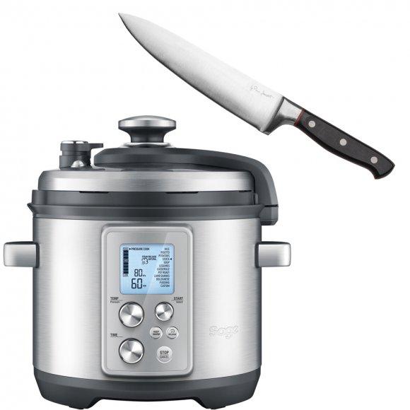 Elektrický tlakový hrnec SAGE BPR700 + Kuchařský nůž LT2115