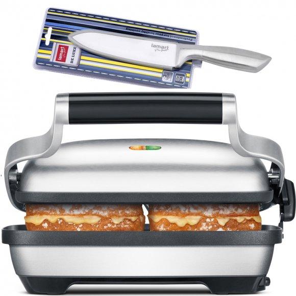 Kontaktní sendvič gril SAGE BSG600  + Keramický nůž LT2004