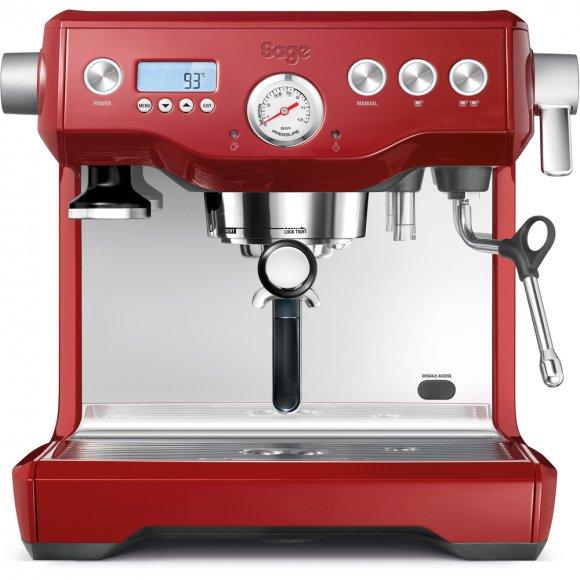 Espresso červené SAGE BES920 + Mlýnek na kávu SAGE BCG820CRN červený