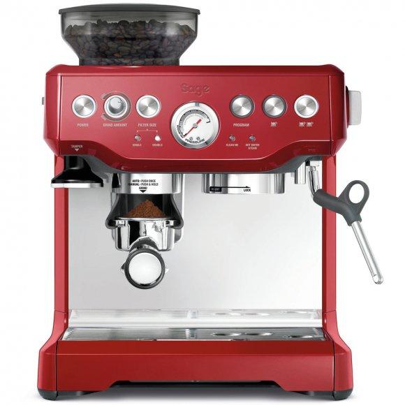 BES870 Espresso červené SAGE + Odklepávač BES100 + Konvička BES003