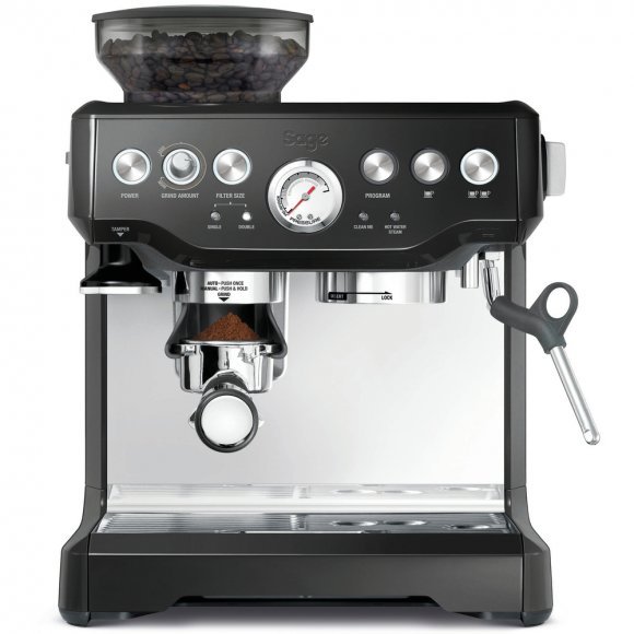 BES870 Espresso černé SAGE + Odklepávač BES100 + Konvička BES003