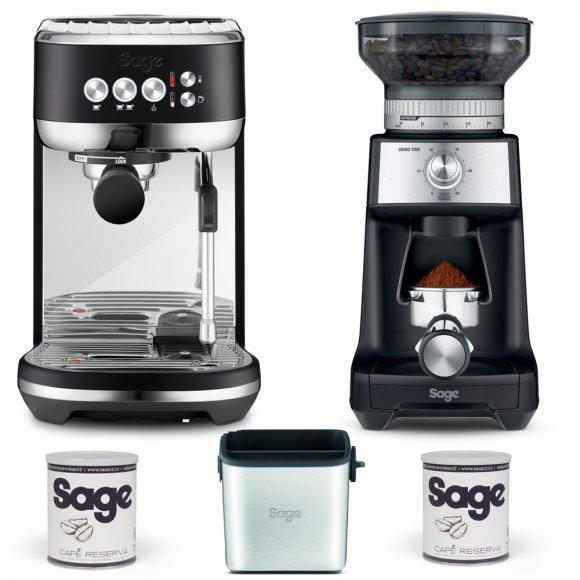 Barista set SAGE SES500BTR+BCG600BTR + odklepávač + 2x káva
